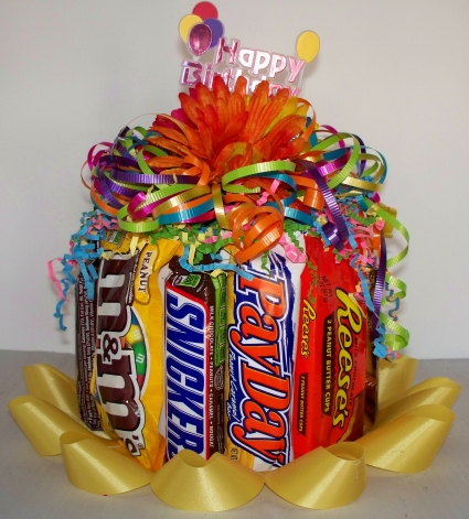 Superb Happy Birthday Cake Candy Bar Cake In West Monroe La All Funny Birthday Cards Online Alyptdamsfinfo