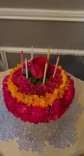 Happy Birthday Cake Jewel Tones