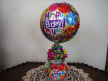 Happy birthday candy jar