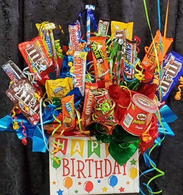 Happy Birthday candy/ snack bouquet
