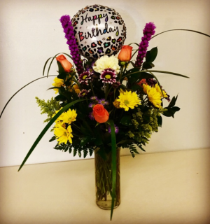 Happy Birthday Celebration Rose Mix in Plainview, TX | Kan Del's Floral, Candles & Gifts