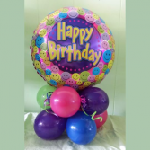 Happy Birthday Centerpiece Balloons