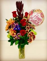 Happy Birthday Fall Design With Balloon