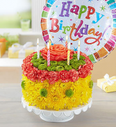 Happy Birthday Flower Cake
