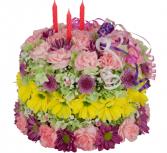 Happy Birthday Flower Cake Zero Calories