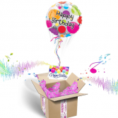 Happy Birthday Inflated Helium Balloons Gift Packa