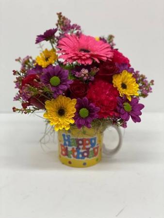 Happy Birthday Mug Mug Arrangement