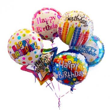 Happy Birthday Mylar Balloon Bouquet