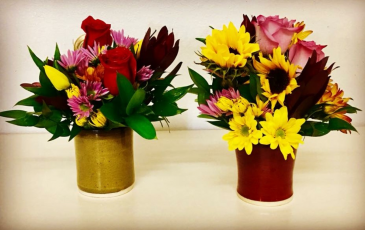 Pottery Fall Floral Arrangement Fall Flowers