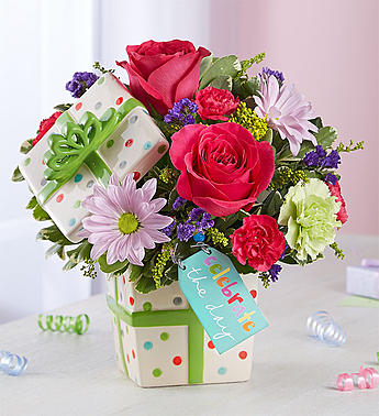 Happy Birthday Present Bouquet Arrangement