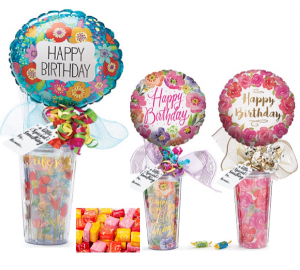 Happy Birthday Travel Mug with Candy Acrylic Travel Mug wth Candy inside in Plainview, TX | Kan Del's Floral, Candles & Gifts