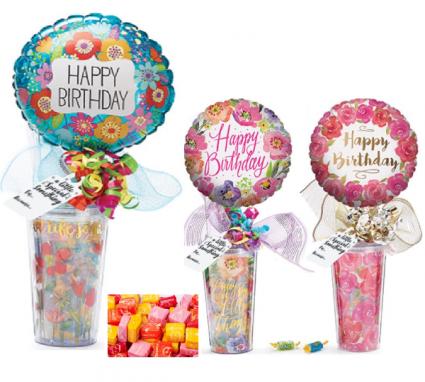 Happy Birthday Travel Mug With Candy Acrylic Wth Inside