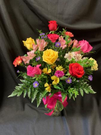 Happy Birthday Vase Arrangement