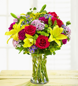 Happy Birthday Wishes Arrangement in Croton On Hudson, NY   Cooke's Little Shoppe Of Flowers