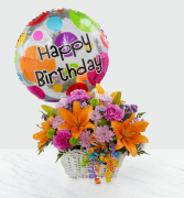 Happy Blooms Basket Arrangement