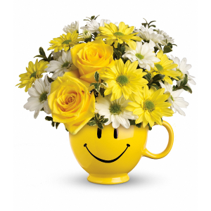 Happy Bouquet - happy mug **Free Birthday Balloon** in Vancouver, BC | ARIA FLORIST