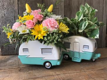 Happy Camper Flower Arrangement -FLOWERS