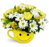 Happy Day arrangement in mug