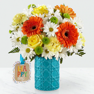 Happy Day Birthday By Hallmark Vase Design in Snellville, GA | SNELLVILLE FLORIST