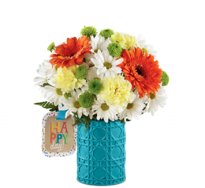 Happy Day!! Vase in Claremont, NH | FLORAL DESIGNS BY LINDA PERRON