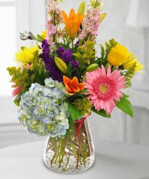 HAPPY DAY Vase Arrangement in Longview, TX | ANN'S PETALS