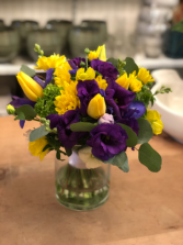 Happy day ! Yellow purple flowers