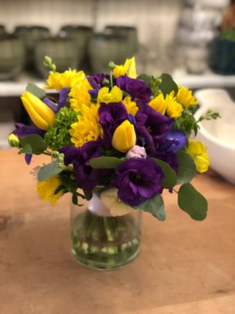 Happy day ! Yellow purple flowers
