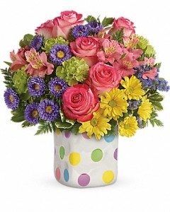 HAPPY DOTS BOUQUET  in Canon City, CO | TOUCH OF LOVE FLORIST AND WEDDINGS