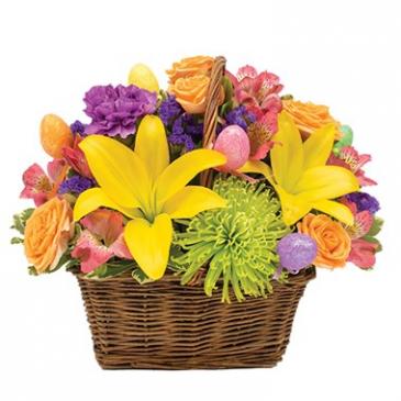 Happy Easter Basket Arrangement