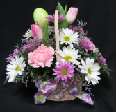 Happy Easter Flower Basket