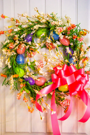 Happy Easter Wreath Silk Wreath in Corner Brook, NL | The Orchid