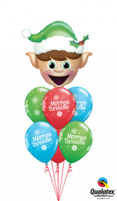 Happy Elf Bouquet Balloons