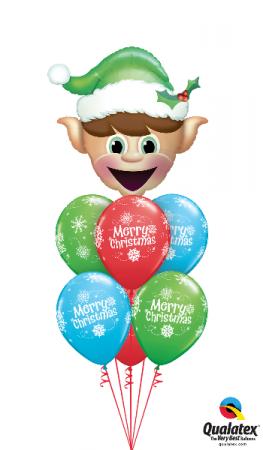 Happy Elf Bouquet Balloons