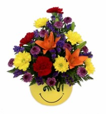 Happy Face Bowl Arrangement