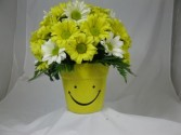 Happy Face Flower Pot