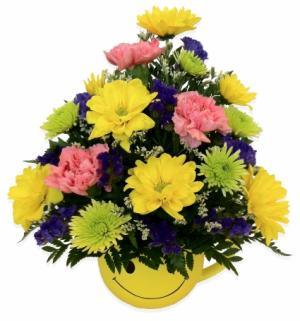 Happy Face Mug Arrangement in Thunder Bay, ON | GROWER DIRECT - THUNDER BAY