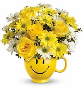 Happy Face Vase Vased Arrangement