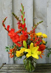 Happy Fall  Bright and Cheerful Fall Arrangement  in Ithaca, NY | BUSINESS IS BLOOMING