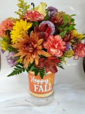 Happy Fall Bucket Plastic Bucket
