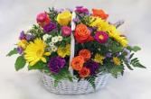 happy flowers basket