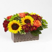 Happy Harvest Traditions wooden planter with liner