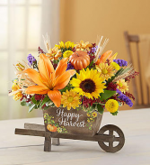 Happy Harvest Wheelbarrow Keepsake container