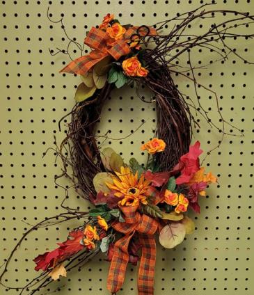 Happy Harvest Wreath Fall SILK wreath