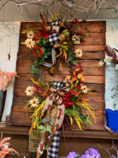 Happy harvest wreath  Home decor
