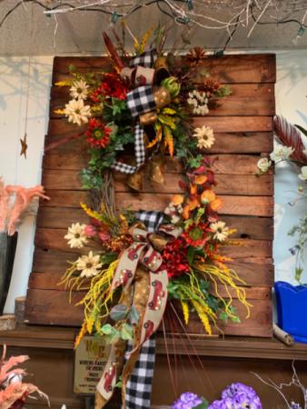 Happy harvest wreath  Home decor