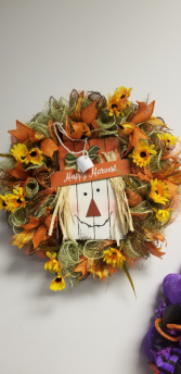 Happy Harvest Wreath Silk Decor