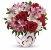 Happy Hearts Bowl Arrangement