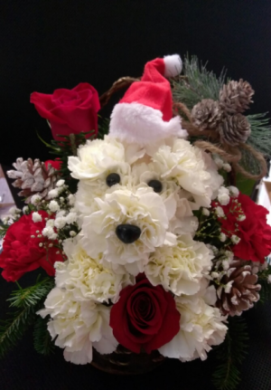 Happy Holiday Pup SALE!! Now $59.99 LOCAL DELIVERY ONLY in Sunrise, FL | FLORIST24HRS.COM