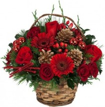 Happy Holidays Basket Christmas
