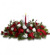 Happy Holidays Centerpiece    TF86-2 Christmas Floral Centerpiece